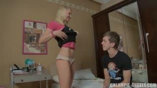 A big sodomy for a blonde