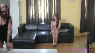 Latina dildo herself during her casting