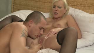A very hot blonde has a fuck she will never forget