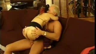 Bridget Powers- a midget fucks an old man