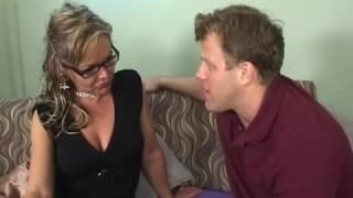 Kelly Leigh, a mature woman with an excited boy