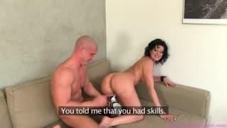 Female Agent- Amateur fucks a MILF