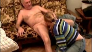 An old man to fuck her