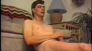 Two men in a gay porn vintage vid