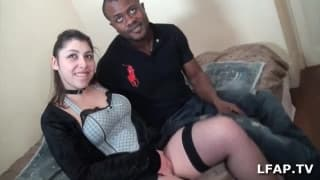 Pleasures amongst an interracial couple
