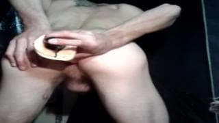 A man gets a dildo in the ass