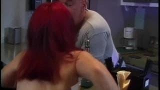 A redhead midget gets fucked!