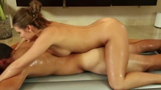 The sexy massage of Abby Cross