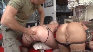 Two pornstars in military training with Rocco