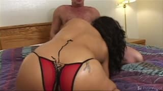 Chubby brunette latina happy to gets laid