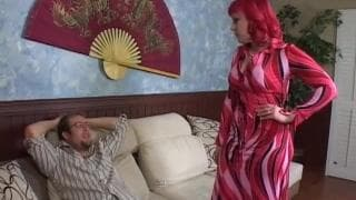 Miss Bunny, a plump redhead is eager to fuck