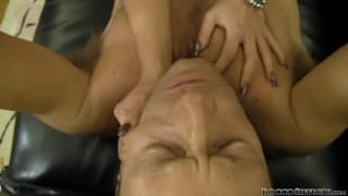 Bianca D tries to suck on Rocco !