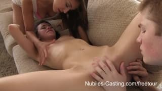 Casting Nubiles - An unexpected trio with Teenagers