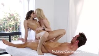 Nubiles Casting - which of the two will penetrate?