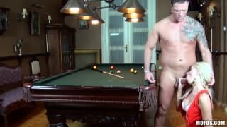 Victoria Puppy likes to fuck on the pool table