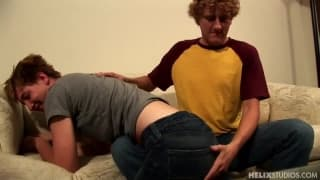 Spanking with flip flops