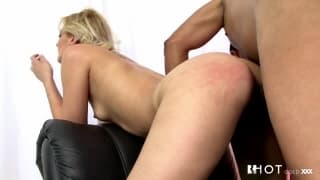 Small tits blonde fucked by a naughty portuguese actor