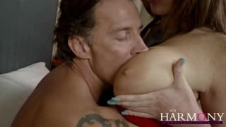 HarmonyVision- Redhead in stockings gets laid
