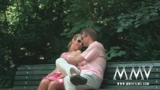 MMVFilms- Exhibitionist blonde gets laid outdoora