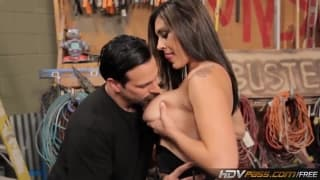 HDVPass- Raylene the busty brunette gets laid in the garage