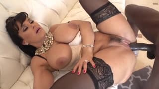 Anal destruction with Lisa Ann and a black dick