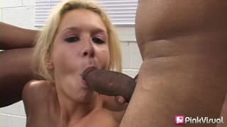 Trinity James taking care of a fat black dick