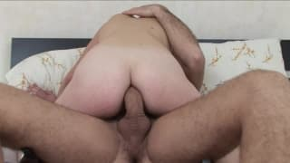 A big orgasm with a hard cock inside her asshole!