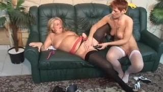 Two nasty mature lesbians and their sextoys