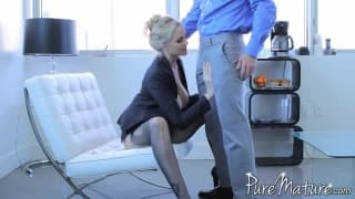 Julia Ann forgets her dildo and enjoys some man
