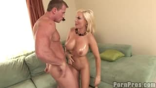 Diamond Foxxx fucking with her big tits bouncing