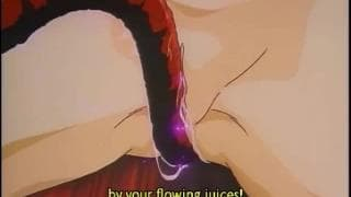 Japanese hentai gets fucked by horny monster