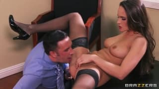 Teal Conrad is a very sexual and seductive secretary