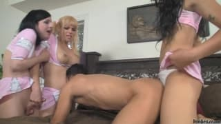 Jesse Flores and Aly Sinclair and Honey Foxxx B