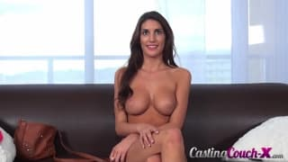 august ames is looking sexy in this porn casting