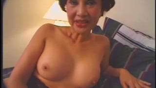 This grandmother gets fucked in a threesome