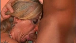 This granny has her pussy fucked by a young guy