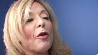 Nina Hartley is a mature woman who sucks hard