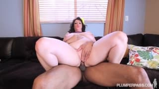 Jasmine Jones is a bbw fucking a big black cock