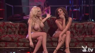 Jesse Jane and Kristen Price in a lesbian show