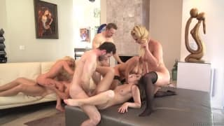 An exciting orgy full of hot pornstars