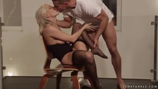 Blanche Bradburry pleases this man with her feet