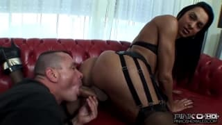 A hot shemale fucks with her boyfriend