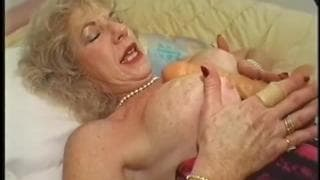 Diane Richards fucks with a younger black guy