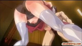 A bondage scene with a young tender hentai girl