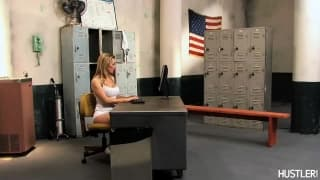 Tanya Tate warms up with a young guy