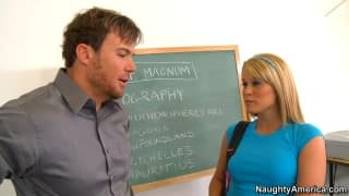 Aiden Aspen is fucked by her teacher today