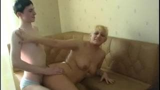 Young guy fucks a blonde milf on camera