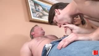 An interesting bisexual  threesome with friends