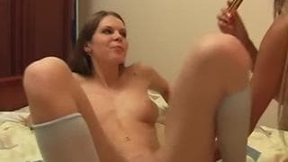 Mariana and Leanne get their pussies wet