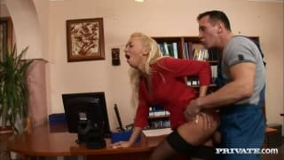 Demi Blue is a tasty blonde secretary